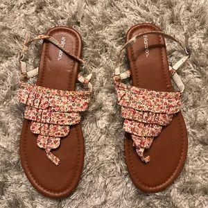 Exhilaration floral sandals